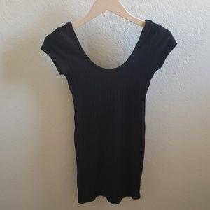 Tobi Ribbed Black Bodycon Dress